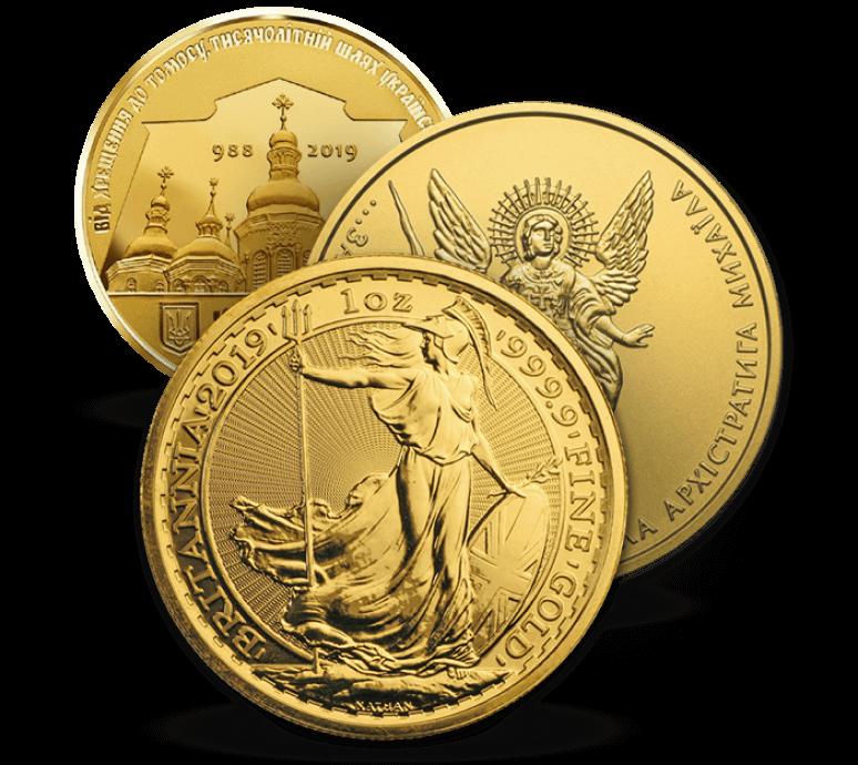 Золотые монеты 1