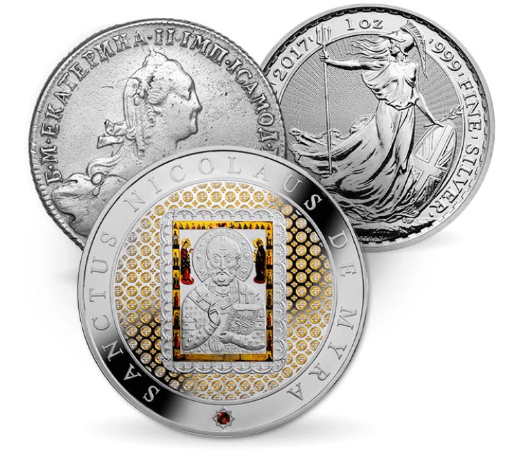 Серебряные монеты 3