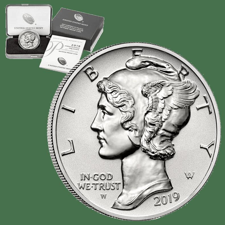 монеты из палладия. Американский Орел