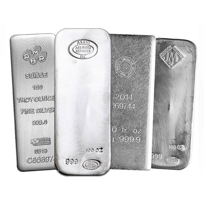 серебряные слитки 999 пробы