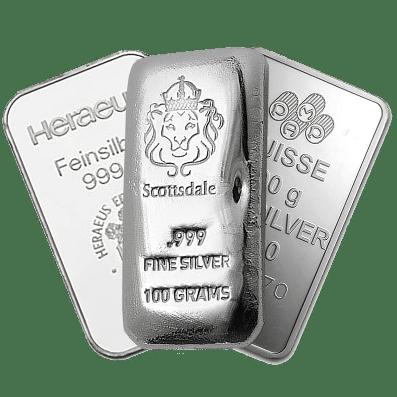 скупка серебра, слитки серебра, чистое серебро